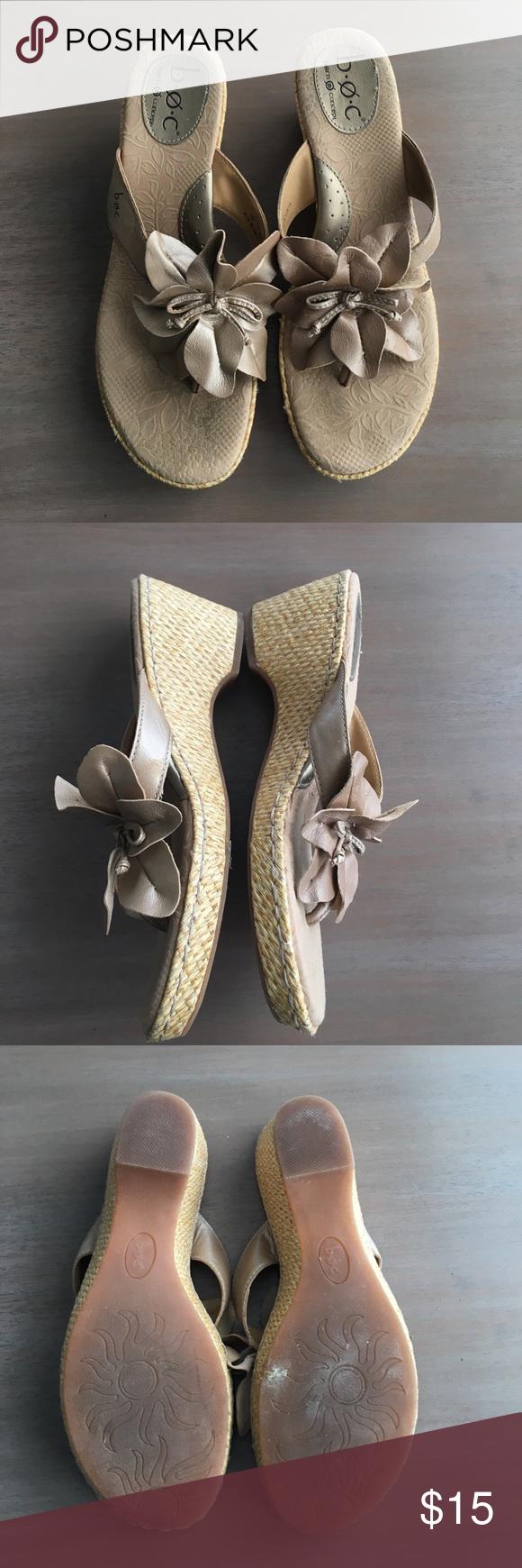 Born Concept Metallic Wedges Gently used Born Concept Metallic Wedges. Size 10. Born Shoes Wedges