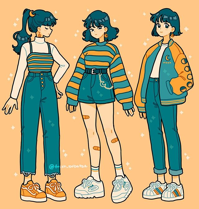 Anime Art In 2020 Drawing Anime Clothes Cute Art Styles Cartoon Art Styles