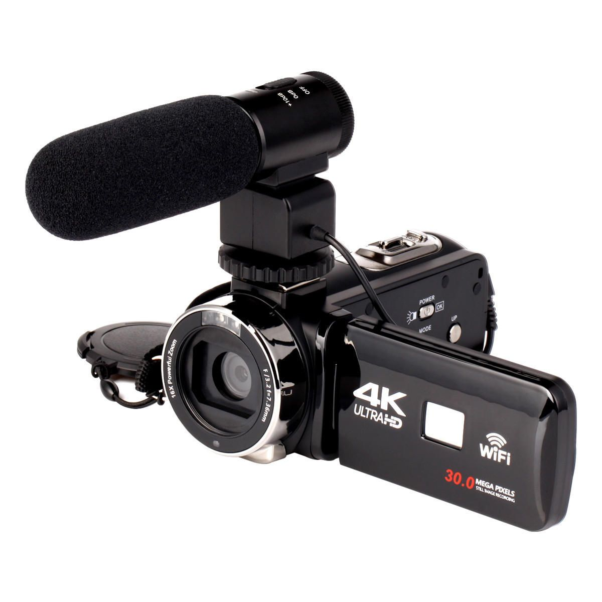 4k Wifi Ultra Hd 1080p 16x Zoom Digital Video Camera Dv Camcorder