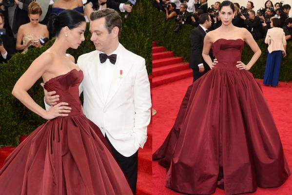 Best & Worst Dressed: Met Gala. Sarah Silverman in Zac Posen. Wow, didn't recognise her!
