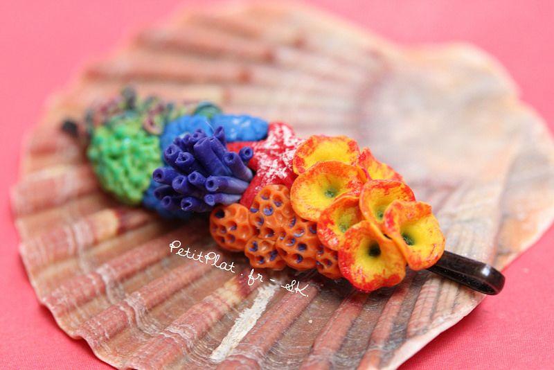 Miniature Coral Reef Hair Pin
