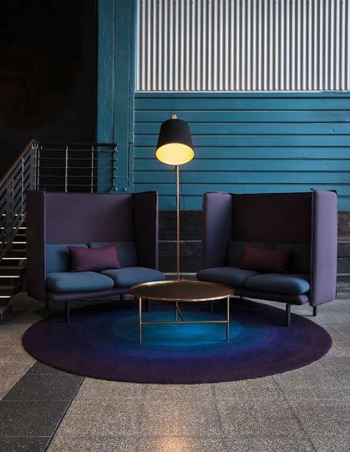 trend violet in interior design - Violet Hotel Design