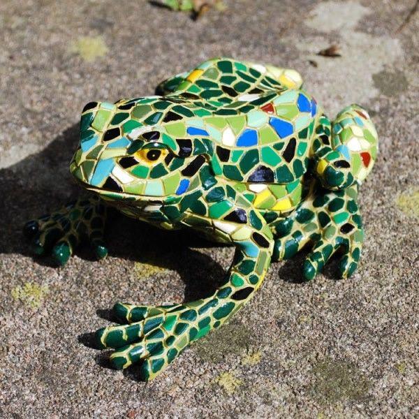 Large Mosaic Coloured Resin Frog Garden Ornament   £14.99 | Garden4Less UK  Shop