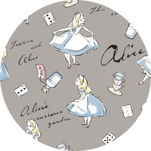 Camelot, Disney FLANNEL, Alice in Wonderland  Fabric is sold by the 1/2 Yard…