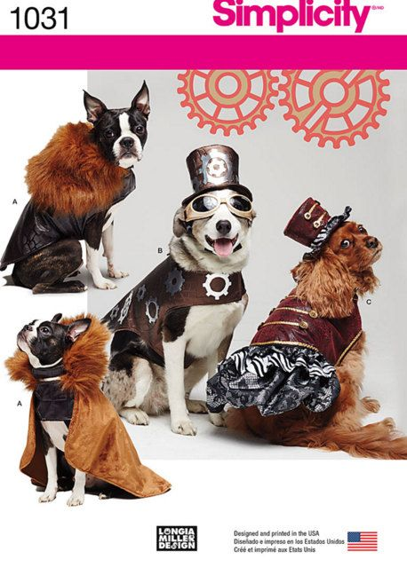 Steampunk Dog Dogs Clothes Dog Costume Dog by ...