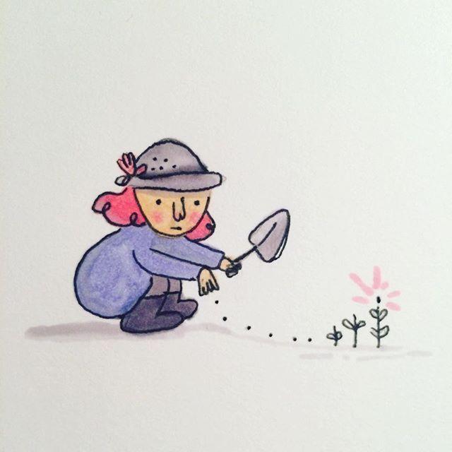 #plant #growlocal #doodle #garden #countryside