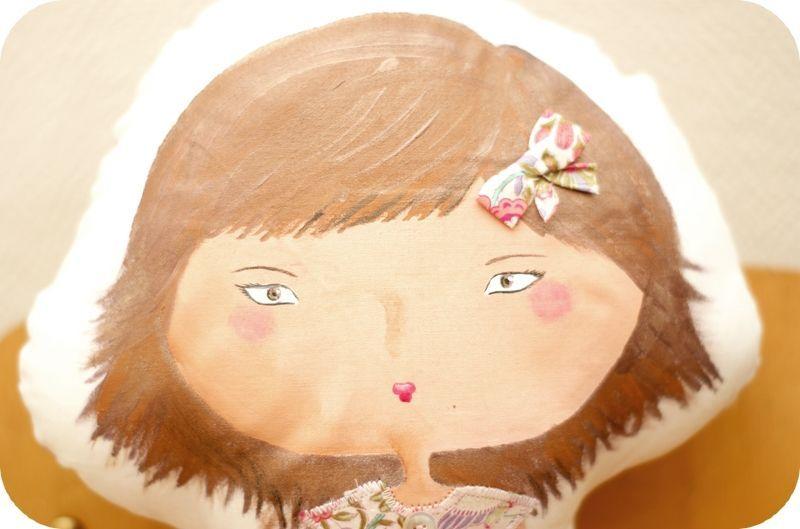 Peinture textile, Liberty, Doll doll doll....