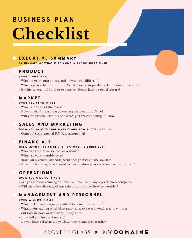 This Checklist Will Turn a Great Idea Into a Successful Business - retail business plan template