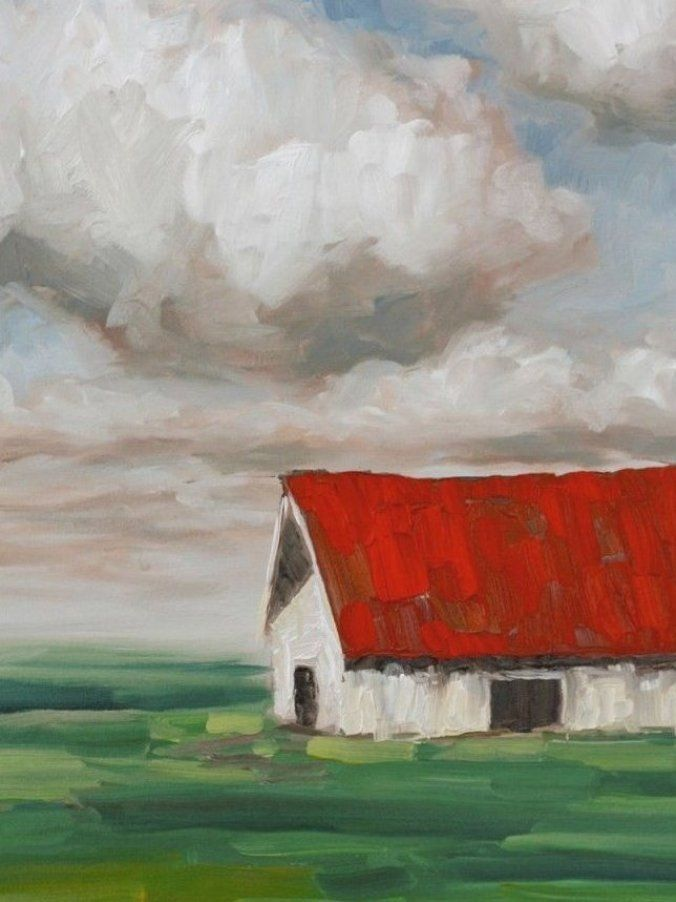 Expressionist Barn Canvas  18 X 24 Brushes  Large Flat  Medium Flat  Small Flat …