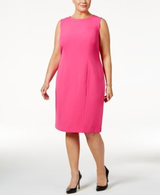 4c6ffecd3a2bd Kasper Plus Size Crepe Sheath Dress