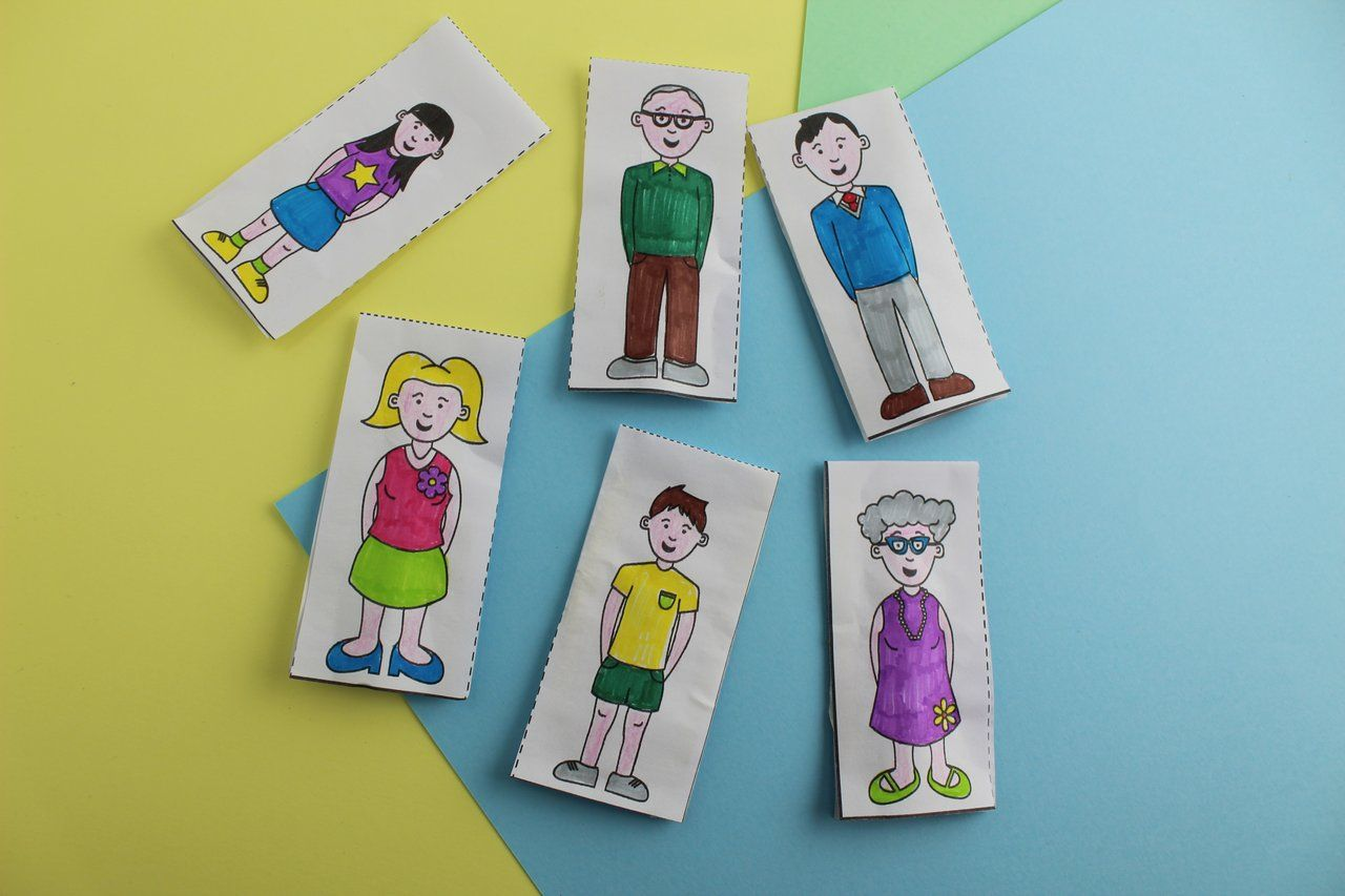 Family Craft Finger Puppets