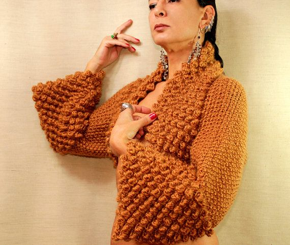 A Very Fine Day / Knit Shrug Bolero Loop Sweater by lilithist, $345.00