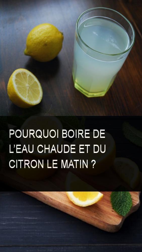 Pourquoi boire de l'eau chaude et du citron le matin