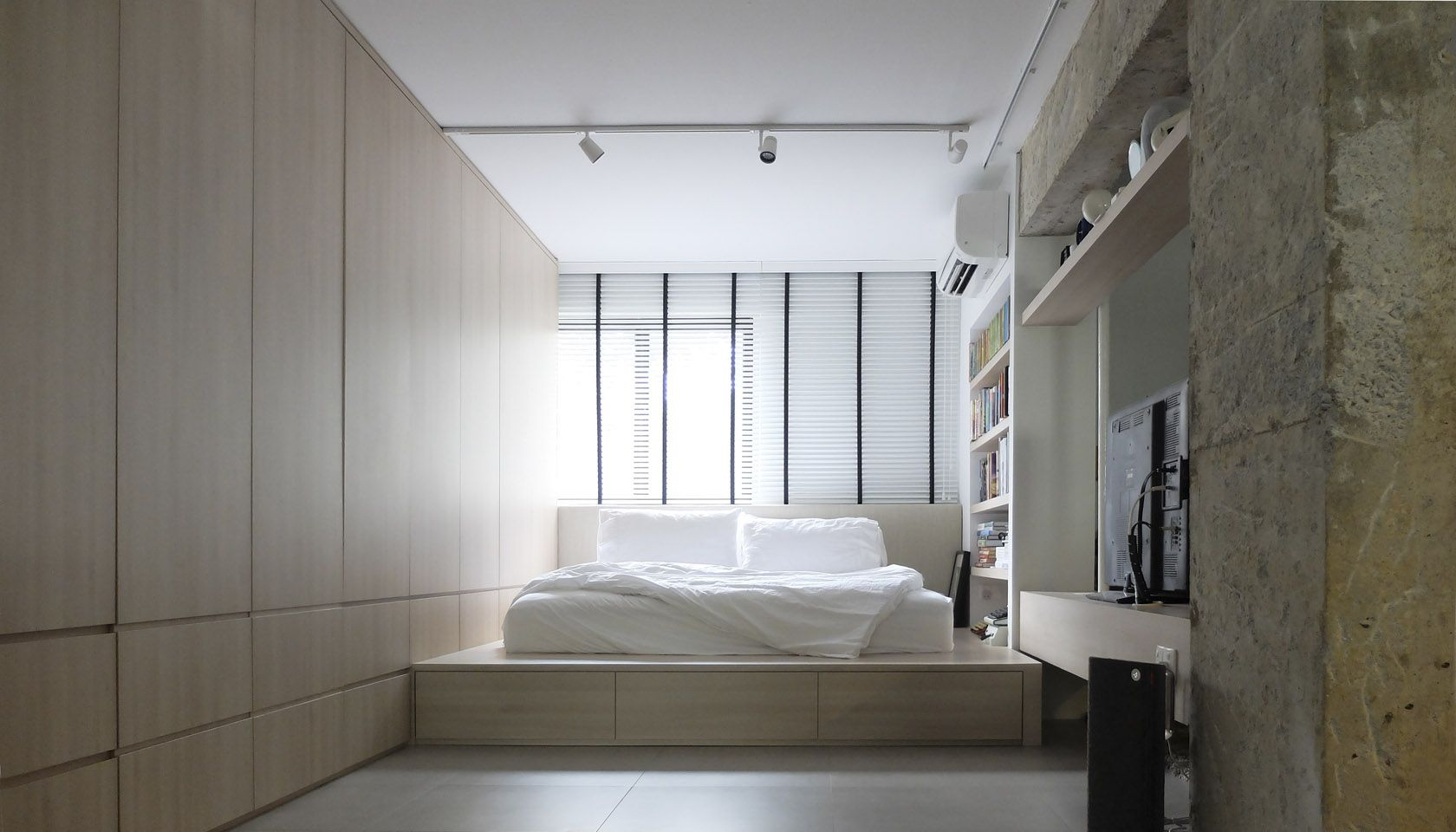 Calming bedroom 0932 design consultants a 3 room hdb for Design consultancy singapore