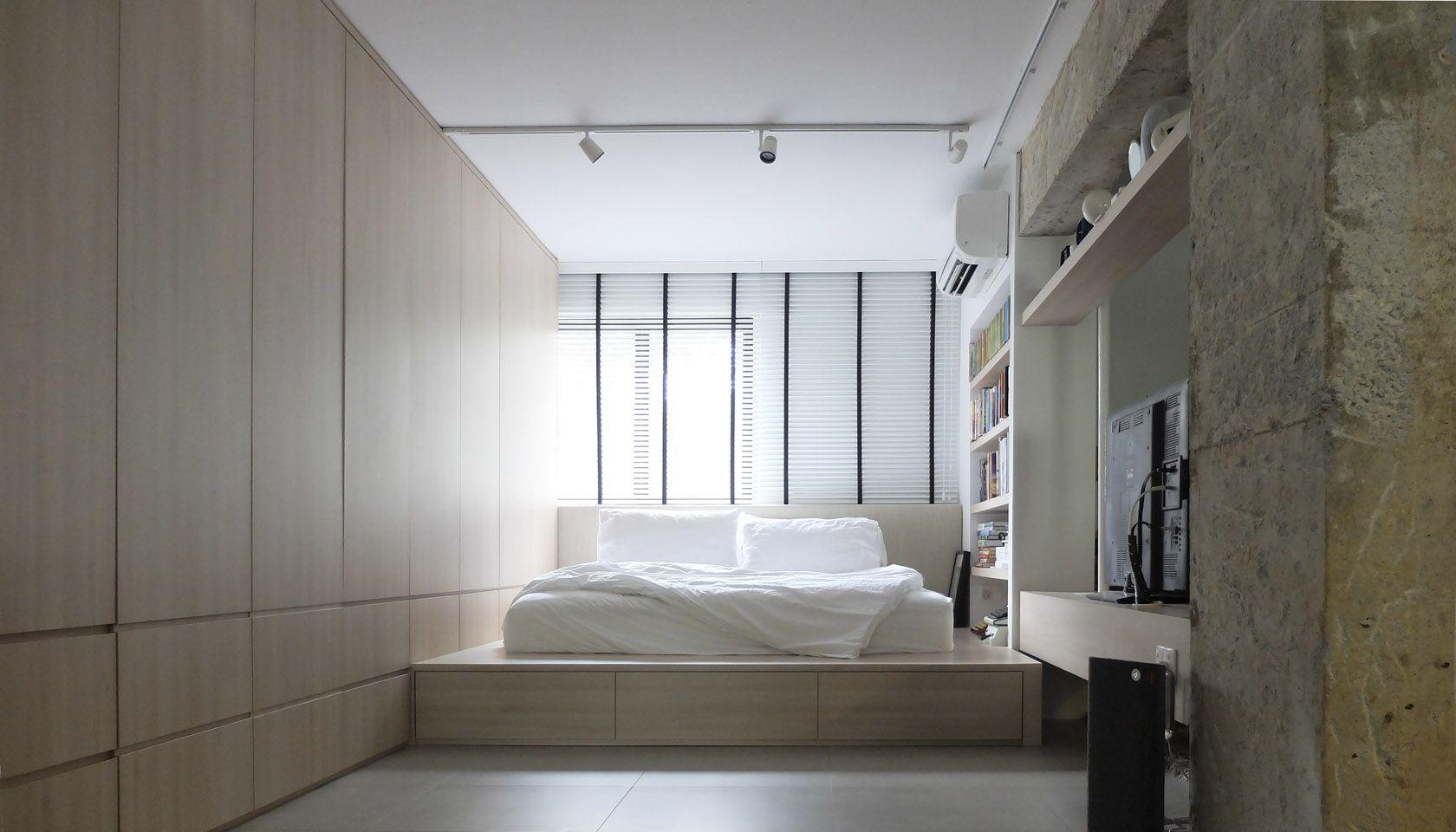 Master bedroom hdb  Calming bedroom   Design Consultants  A room HDB Flat