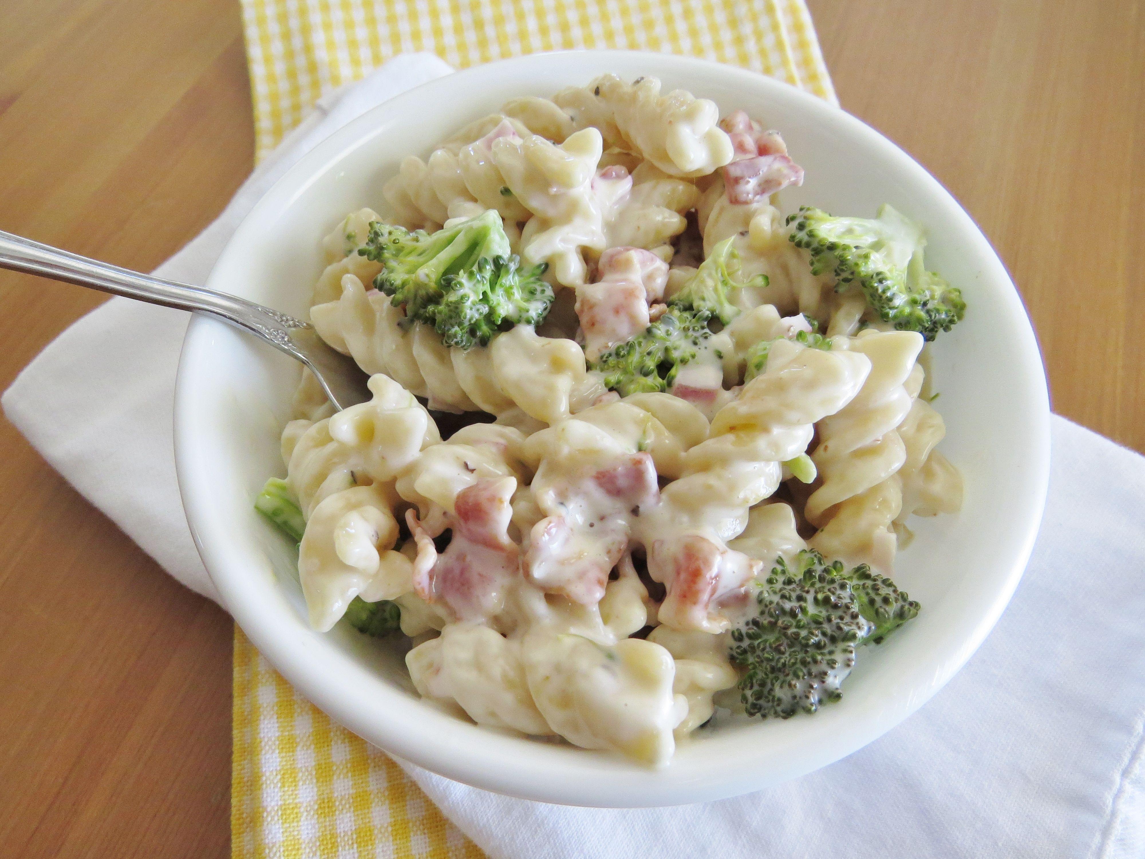 Creamy Bacon Broccoli Pasta Salad Recipe Broccoli Pasta Pasta Pasta Salad