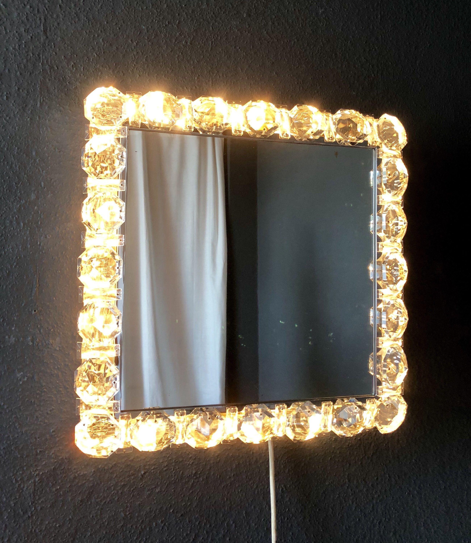 Palwa Beleuchteter Spiegel Chrom Grosse Kristalle Mid Century Etsy Beleuchteter Spiegel Beleuchten Mid Century Modern