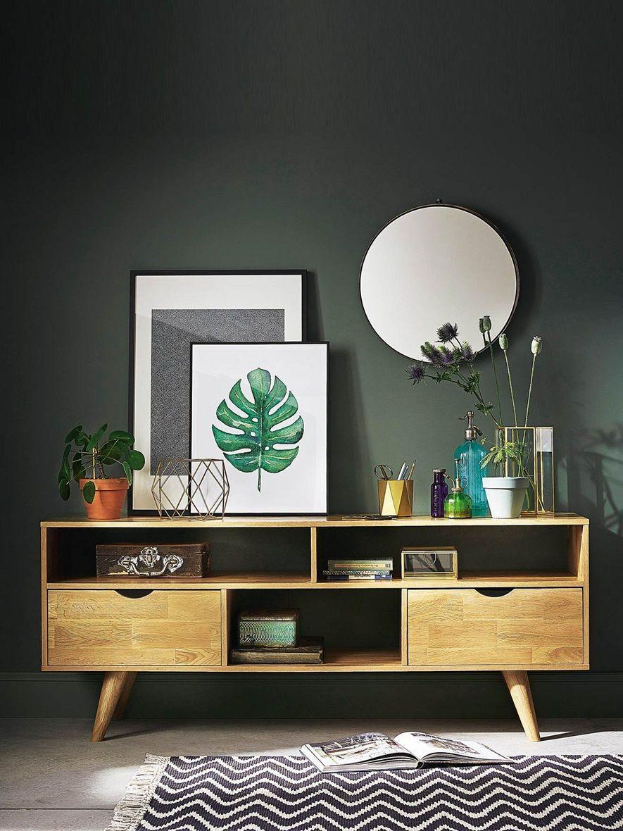 Le Buffet En Chene S Inspire De La Tendance Scandinave Incontournable Dans Nos Interieurs Son Design Retro Et Epure Fait De Room Decor Retro Home Decor Decor