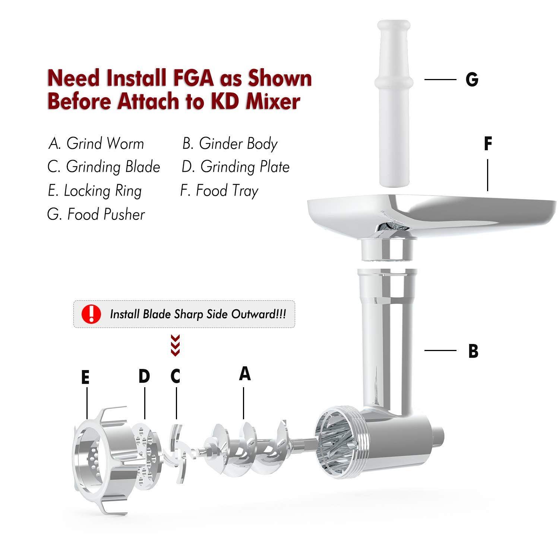 Meat Grinder Attachment Compatible Kitchenaid In 2020 Kitchenaid Stand Mixer Kitchen Aid Meat Grinder