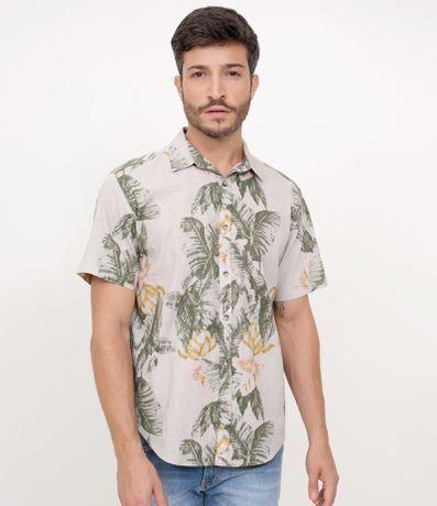 e239d82cc5b98 Camisa Estampada Floral em Linho em 2019