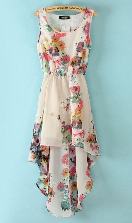 Sleeveless waisted flower dress X880