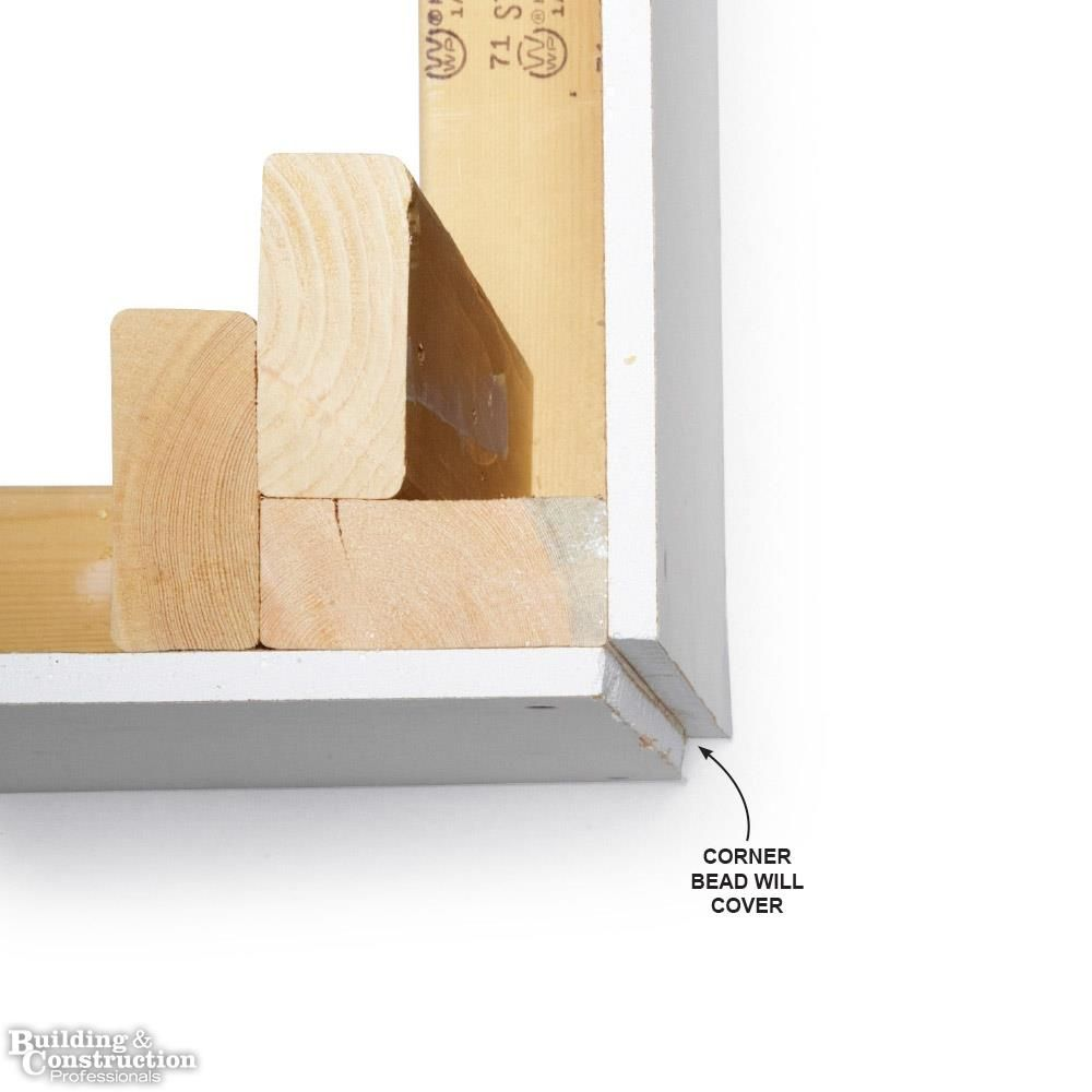 Drywall Installation Tips Cut Outside Corners Flush With The Framing