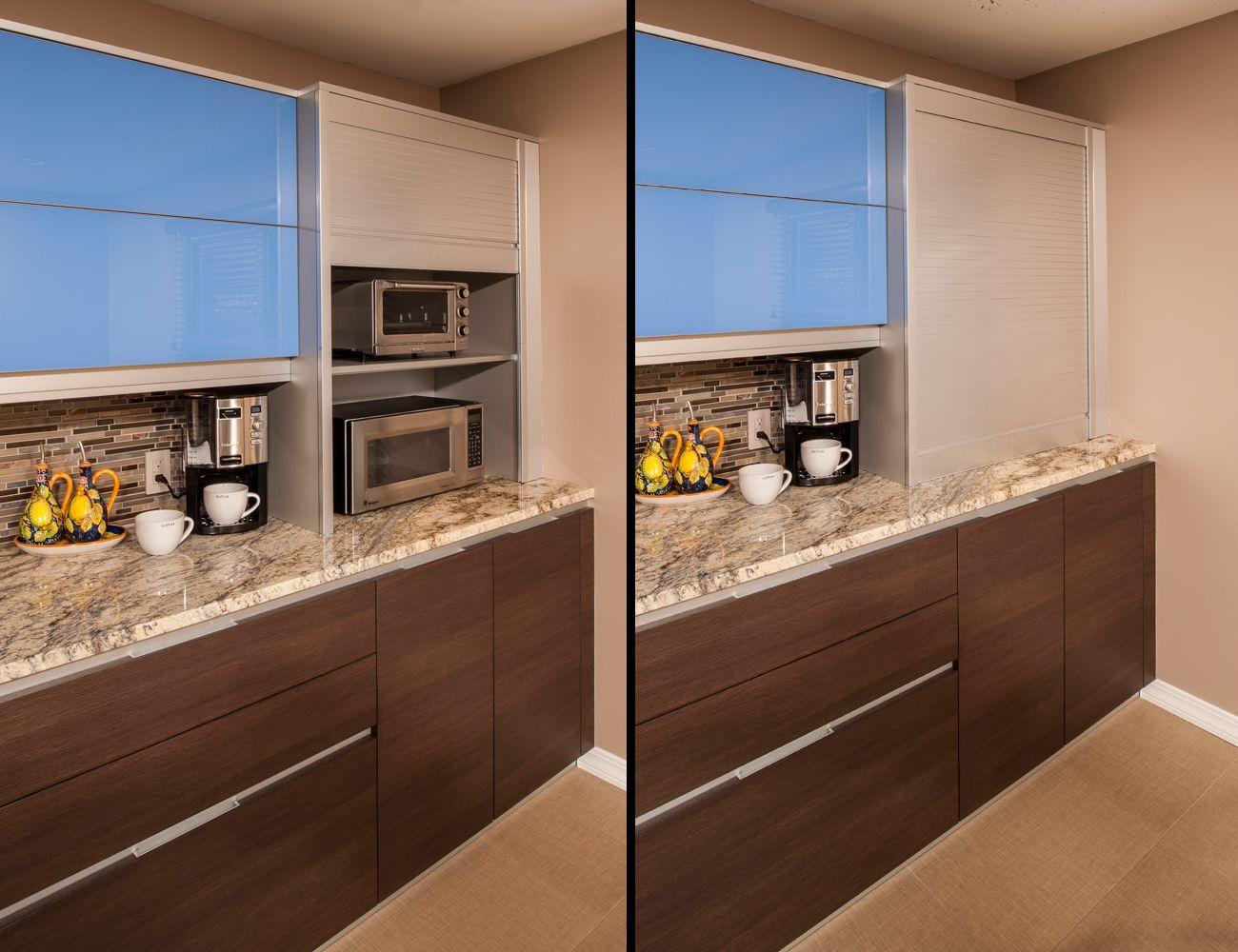 Modern Kitchens Appliance Garage Stainless Steel Doors And Steel