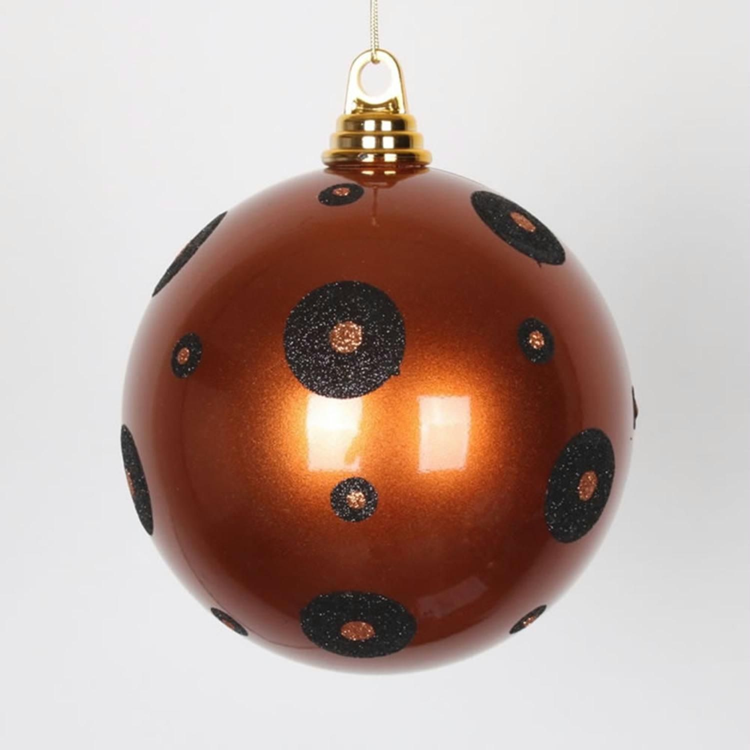 Candy Copper With Black Glitter Polka Dots Commercial Size Christmas