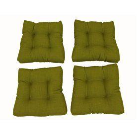 Blazing Needles Avocado Solid Cushion For Rocking Chairs 94005-Reo-S2-