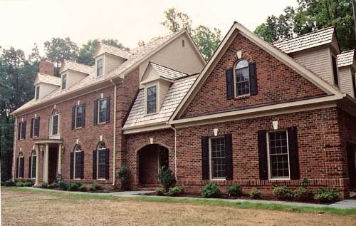Examples Of Brick Homes Looking Good With Cream Off White