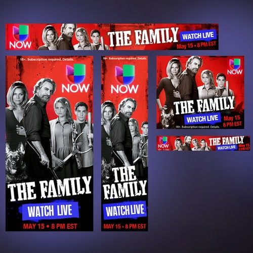 Create banner ad for high profile television app Univision