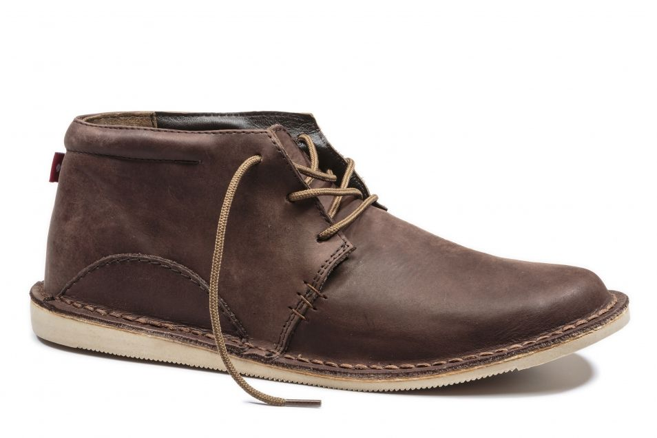 Men's Leather Shoes | Fair Trade Certified Shoe for Men- Oliberte | ADIBO Brown/Yellow Pullup
