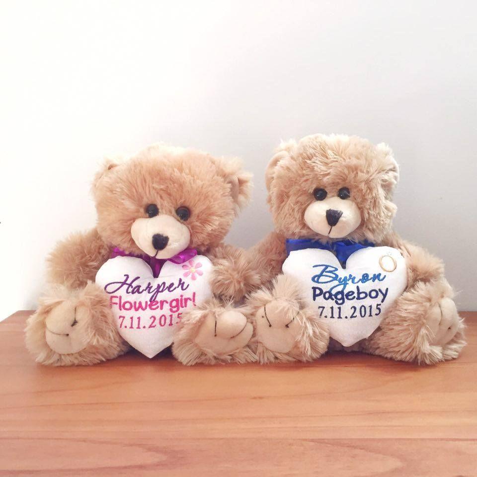 flower girl pageboy teddy wedding teddy personalised