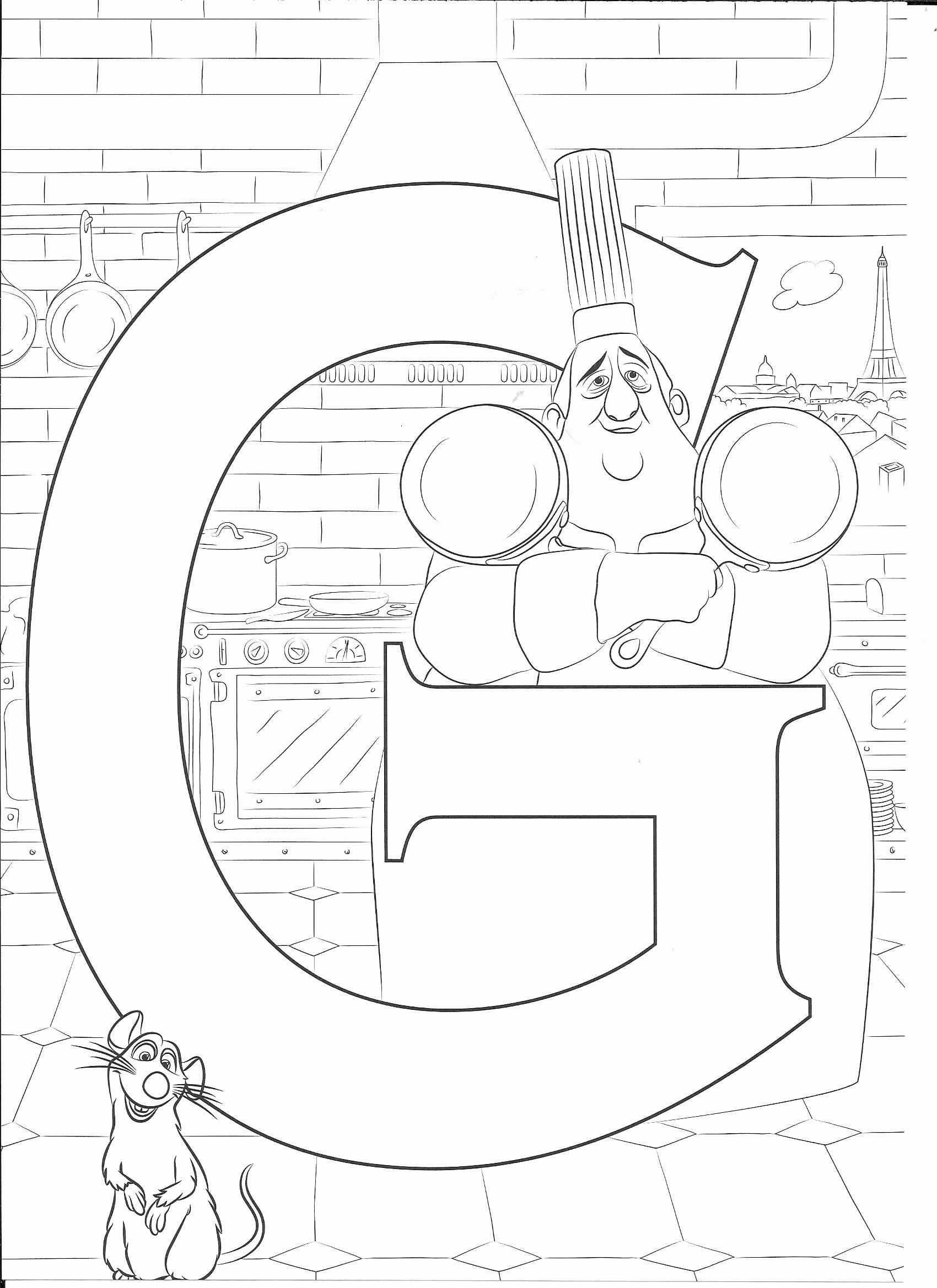Alphabet U Coloring Pages Best Of G For Gusto Disney