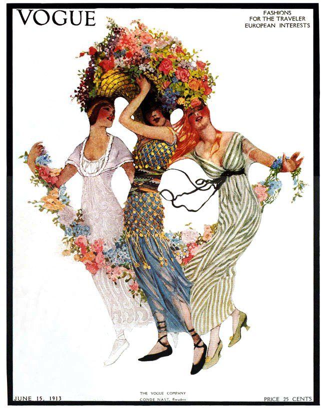 ⍌ Vintage Vogue ⍌ art and illustration for vogue magazine covers -  1913
