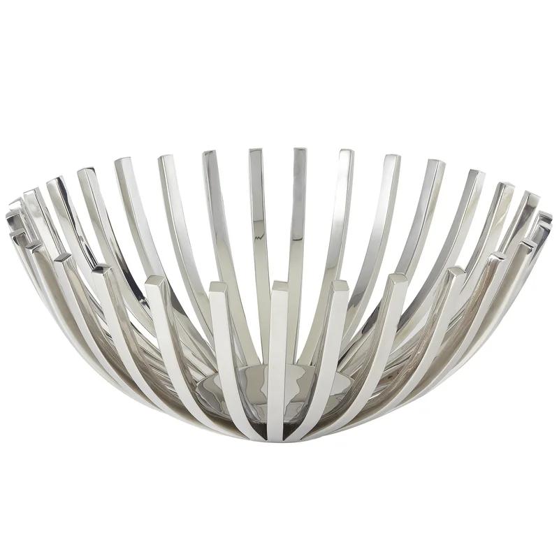 Dreshertown Stainless Steel Decorative Bowl In Silver Decorative Bowls Steel Stainless Steel