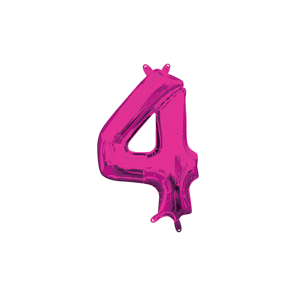 13in Air Filled Bright Pink Number 0 Balloon Number Balloons Foil Number Balloons Easy Party Decorations