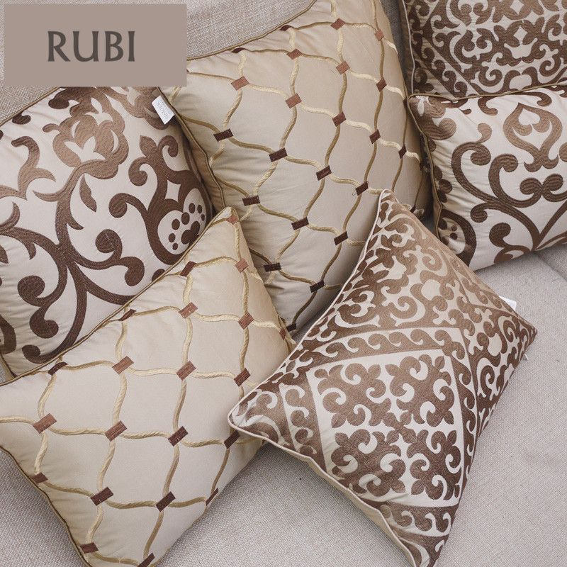 European embroidery cushions luxury decorative throw pillows