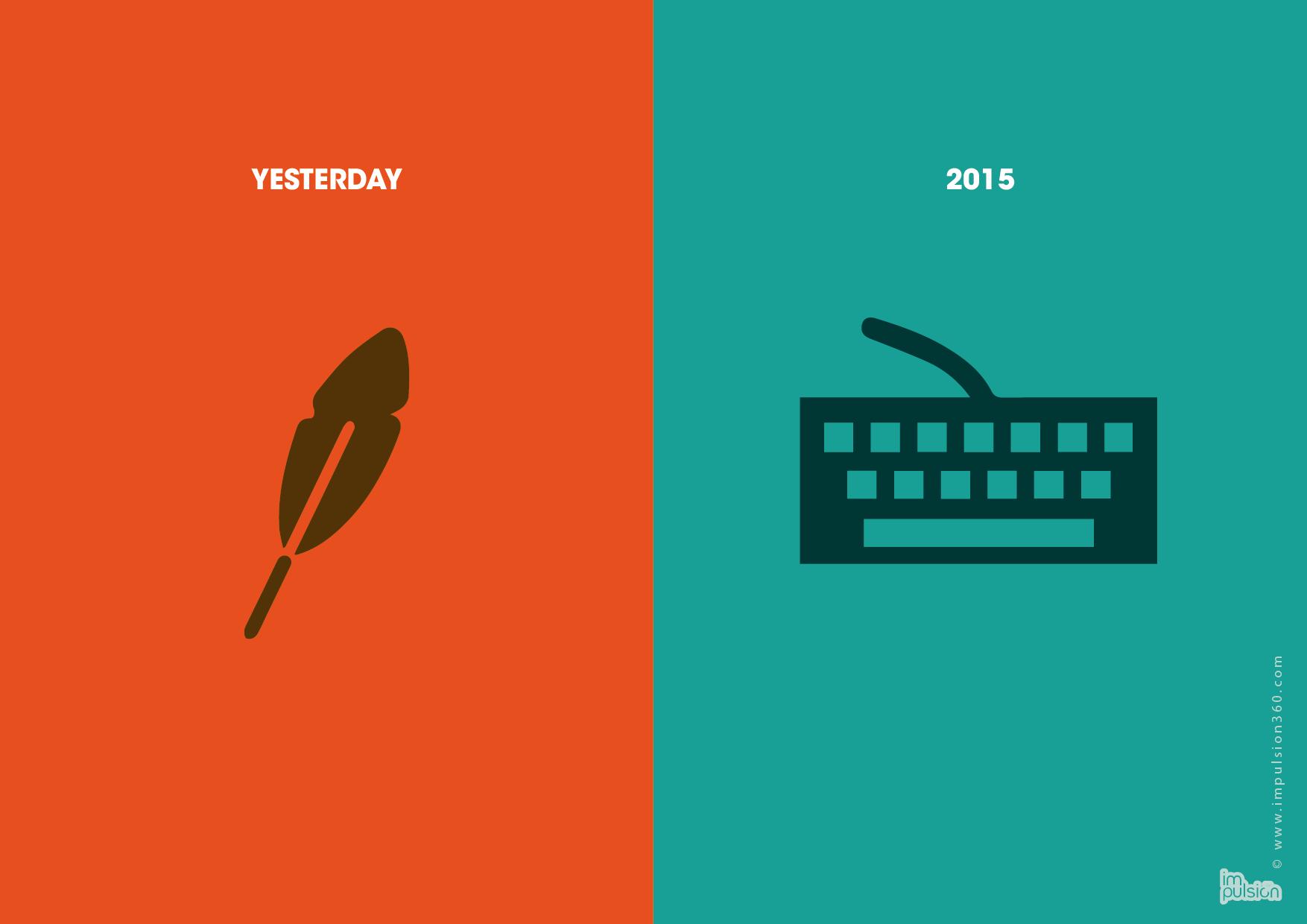 Notre plume n'est plus, le clavier s'enclave. #Impulsion360 #voeux2015