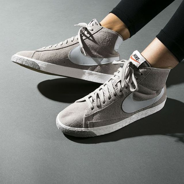 separation shoes d91b9 b41da 70s Swoosh simplicity! The Blazer Mid returns in  Cobblestone  suede.  Available now