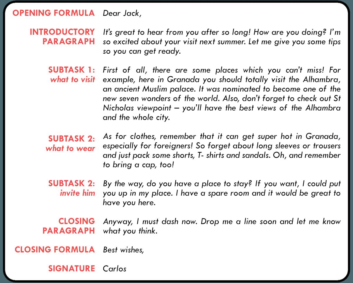 Cómo Escribir Un Email Informal Para B2 First Fce Writing Kse Academy Carta Informal En Ingles Cómo Escribir Ejemplo De Carta Formal