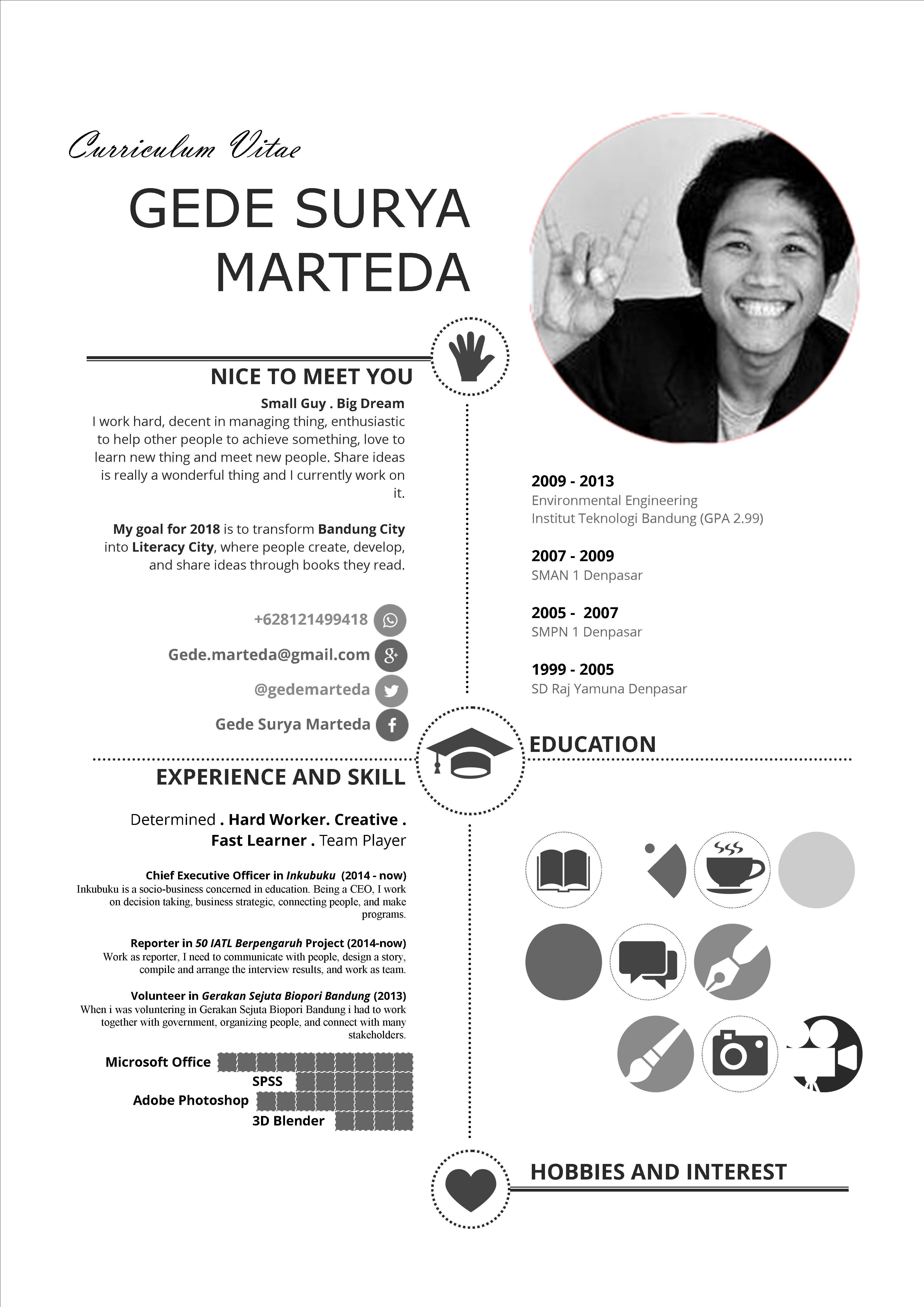 Curriculum Vitae Cv kreatif, Desain cv, Riwayat hidup