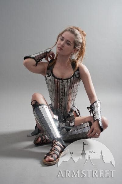 Armor corset, greaves and bracers