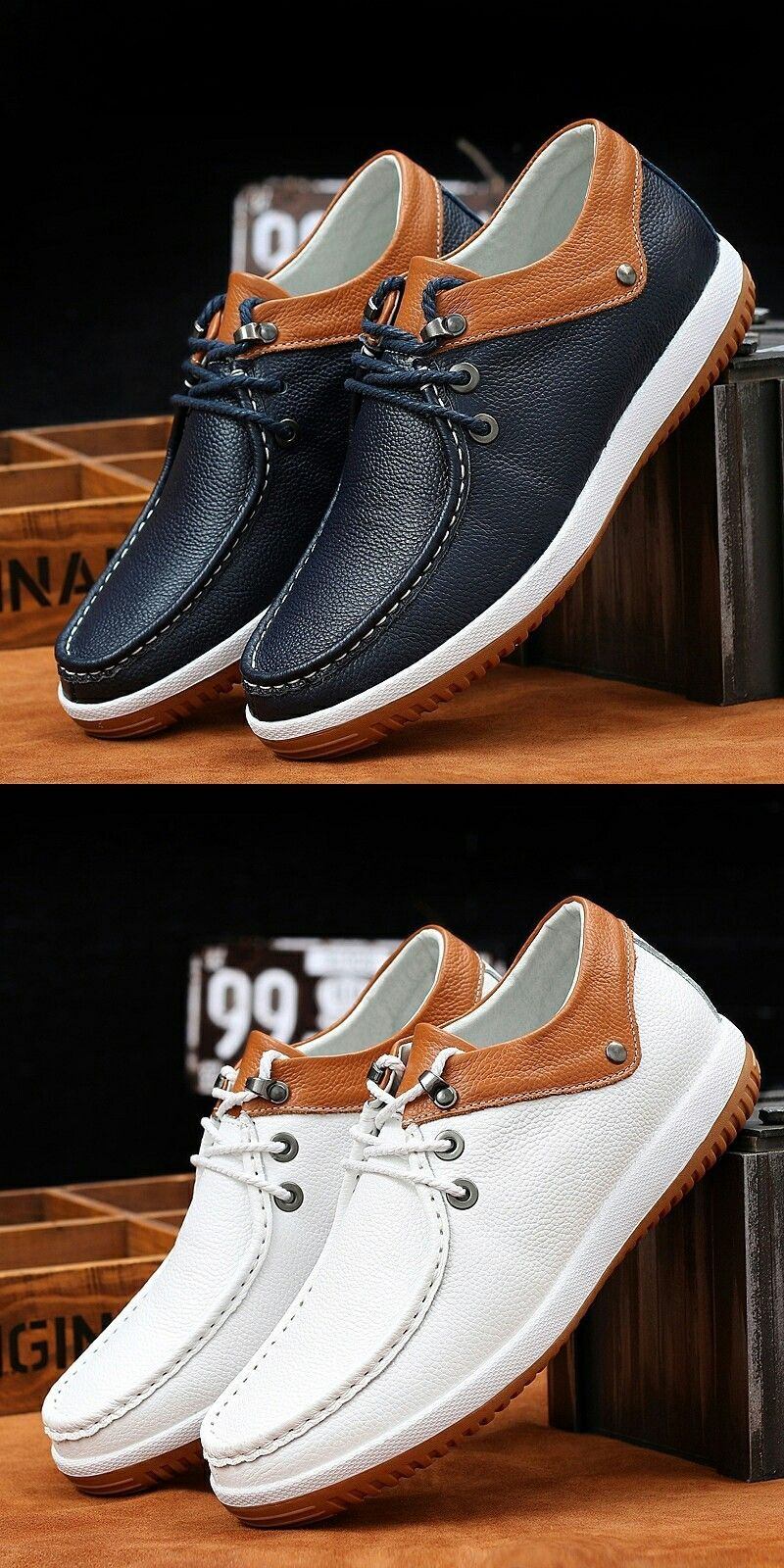 1acb1704 US $32.4 <Click to buy> Prelesty Formal Business Lace Up Shoes Men Genuine Leather  Thick Outsole #buymensshoes