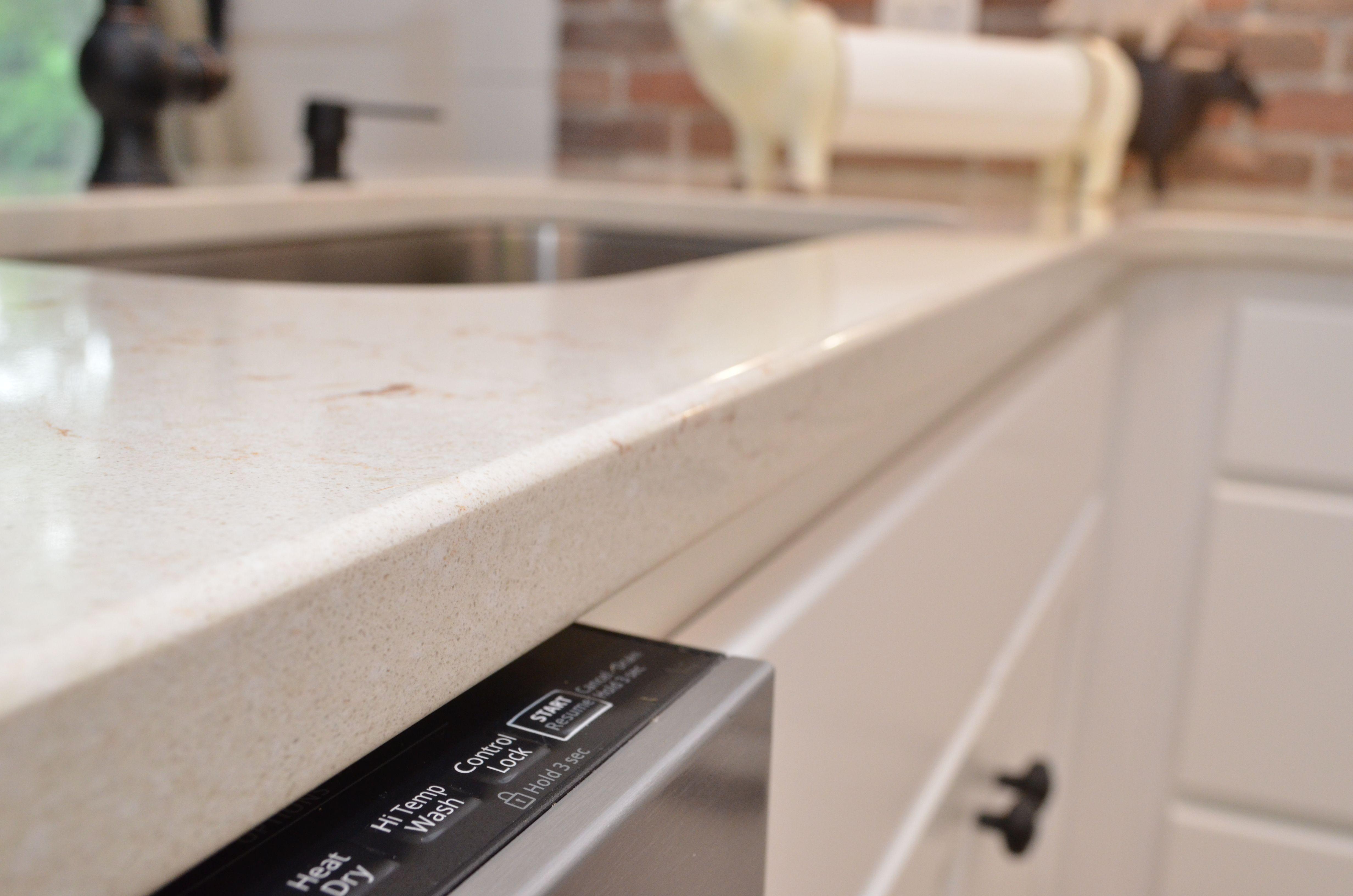 Hanstone Quartz Countertop Eased Edge Style Serenity Color Quartz Countertops Countertops Serenity Color