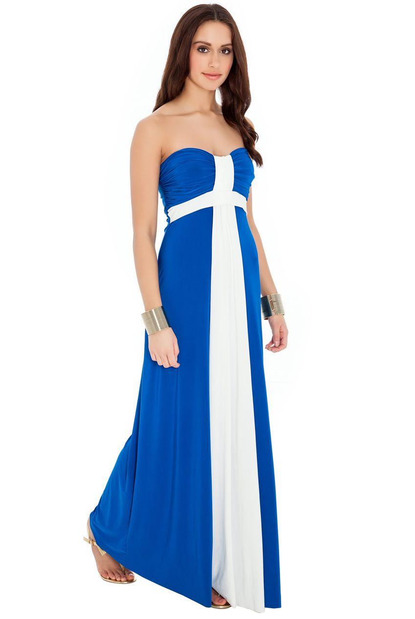 Evening bandeau maxi dresses