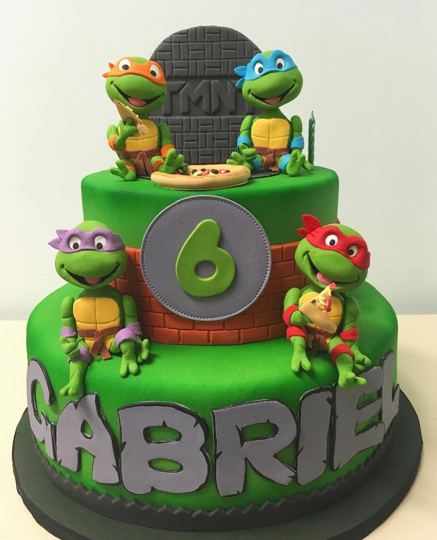 Terrific Ninja Turtles Ninja Turtle Birthday Cake Turtle Birthday Cake Funny Birthday Cards Online Ioscodamsfinfo