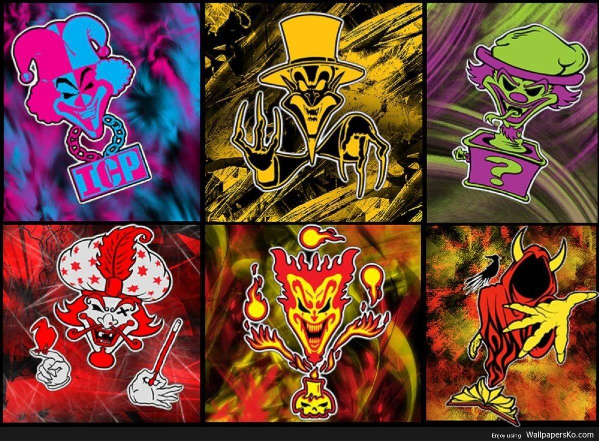 Pin By Ronnie On Wraith Insane Clown Posse Joker Card Evil Clowns