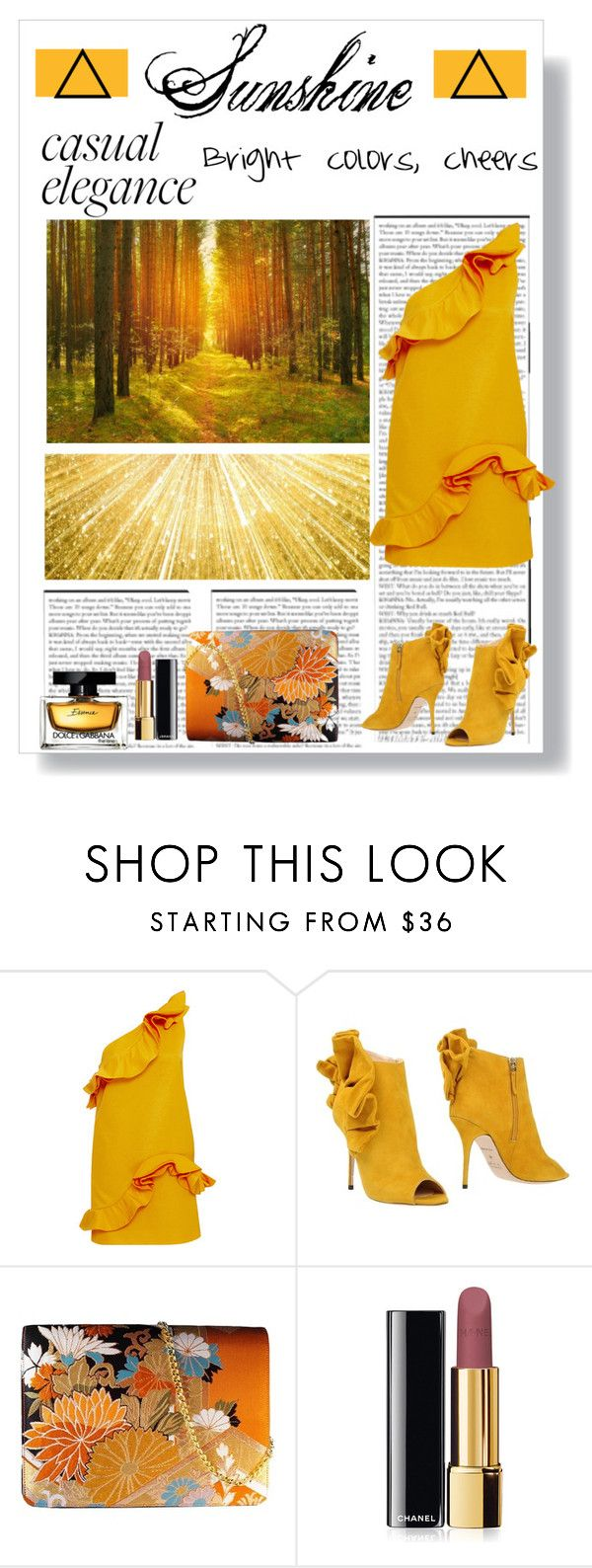"""Sunshine"" by millyonaire ❤ liked on Polyvore featuring MSGM, Alberto Moretti, Chanel and Dolce&Gabbana"