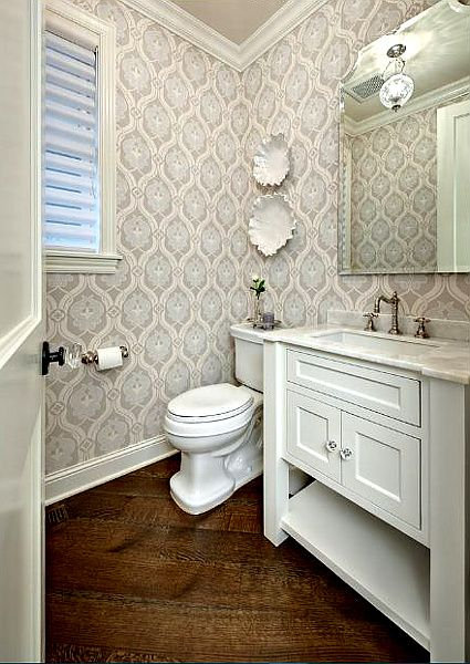 Traditional Powder Room By Design By Lisa Powder Room